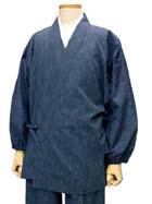 藍染風涼木綿の作務衣