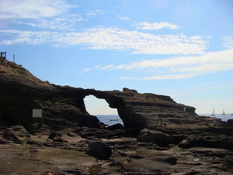 城ケ島 馬の背洞門
