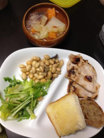 満腹ダイエット1日目晩御飯