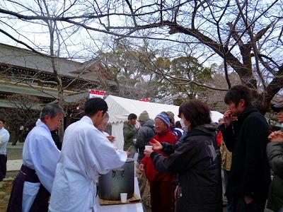 三嶋大社 どんどん焼き 甘酒 2012年1月15日