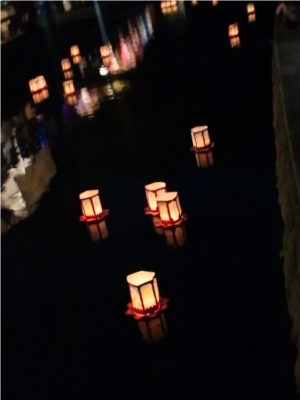 三島市 白滝公園 「水まつり」 灯籠流し