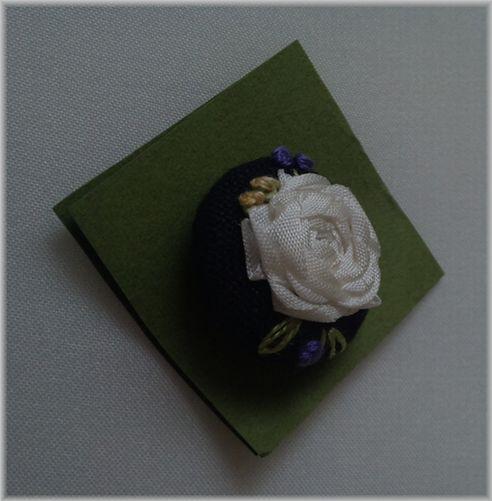 コトノハ*さん・リボン刺繍ボタン