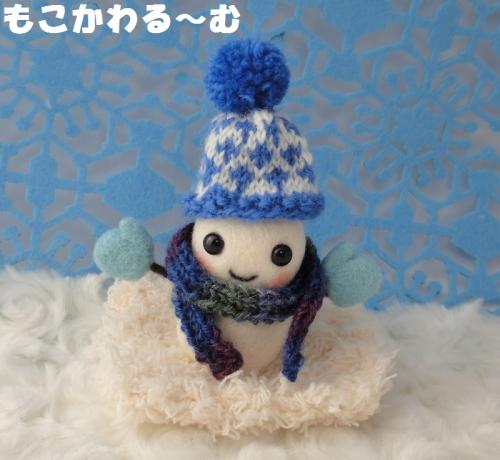雪だるまブルー1