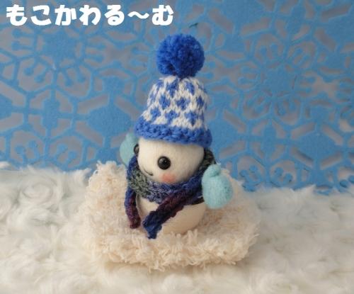 雪だるまブルー2