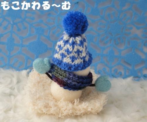 雪だるまブルー3