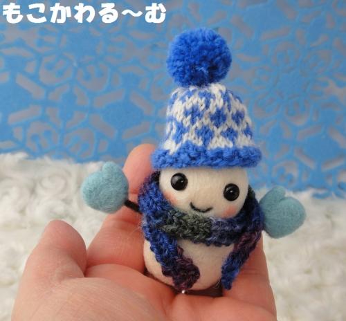 雪だるまブルー5