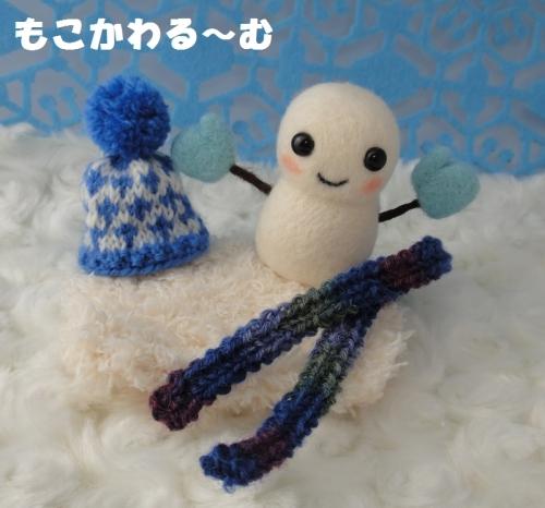 雪だるまブルー6