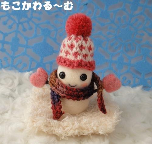 雪だるまピンク1