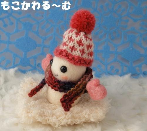 雪だるまピンク2