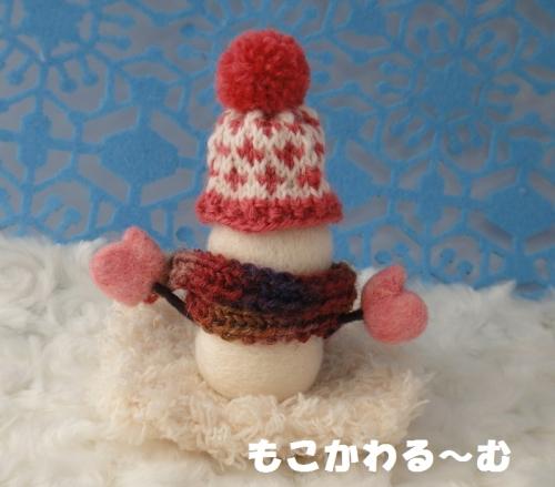 雪だるまピンク3