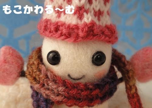 雪だるまピンク4