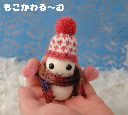 雪だるまピンク5