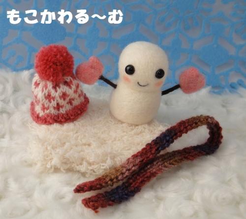 雪だるまピンク6