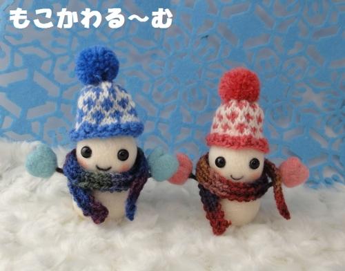 雪だるまピンク7