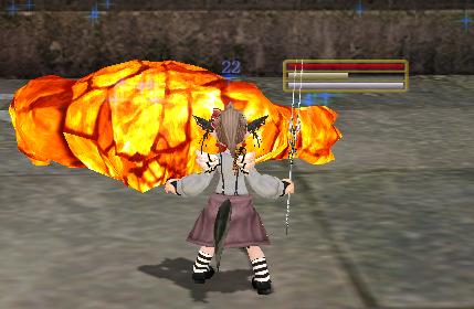 アンネース:久々の火ゴレ