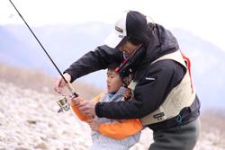 親子での釣り