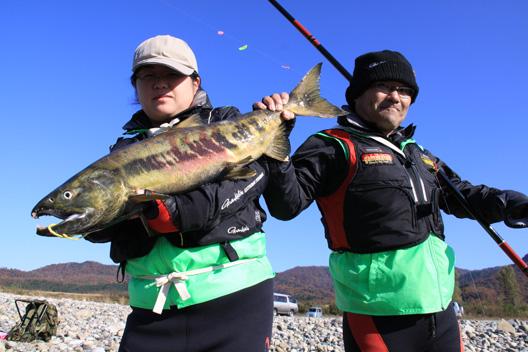 三重渓流倶楽部 荒川鮭釣り 11月21日