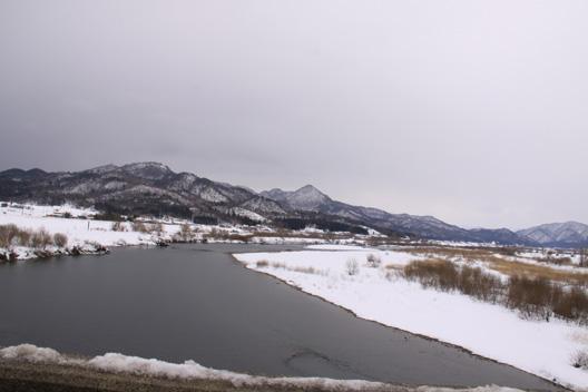 新潟県 荒川 1月風景写真
