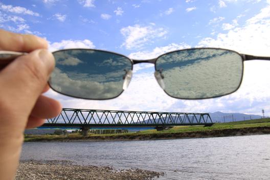 荒川鮭釣り 偏光グラス