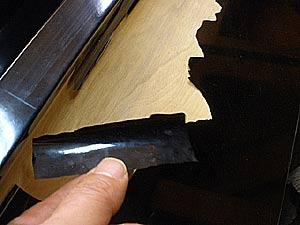 ピアノブラック 塗装 塗膜