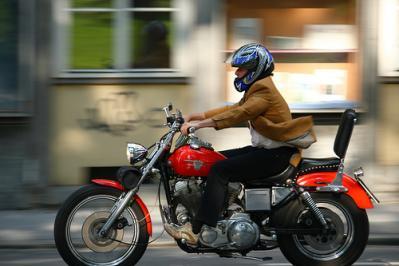 バイク 町中