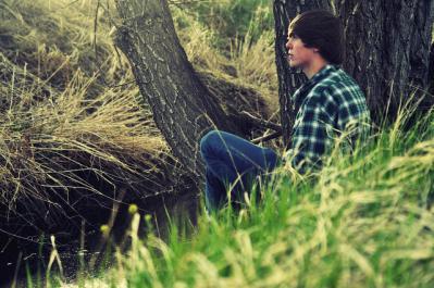 草むら 自然 人