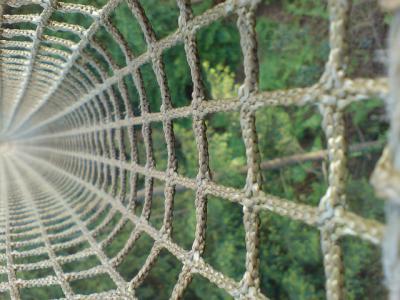 ロープ 網 遊具 緑