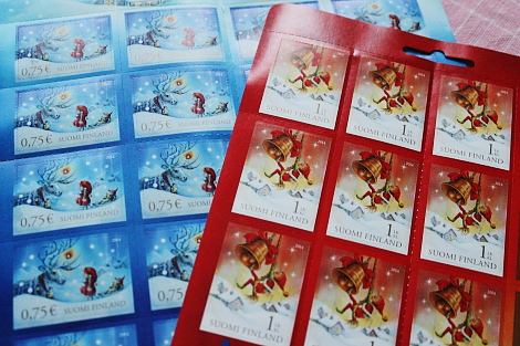 Joulumerkki クリスマス切手2014年