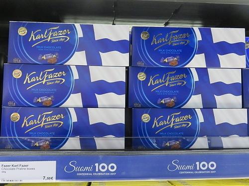 フィンランド ヘルシンキ‐ヴァンター空港 Fazer チョコ