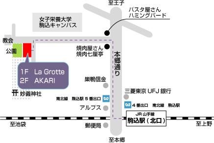 La Grotte地図