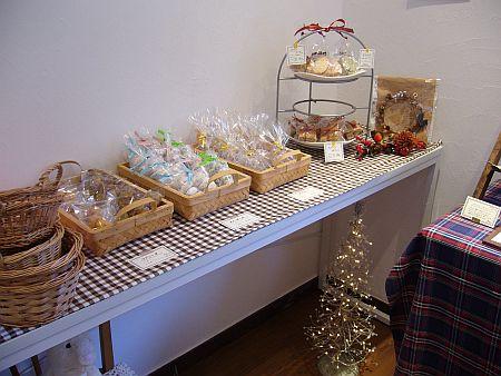 さぐーの焼き菓子コーナー