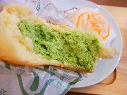 抹茶クリームパン