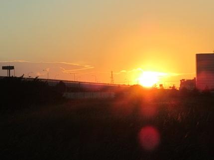 大きい夕日