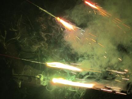 4本の花火