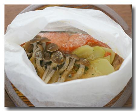鮭としめじとじゃがいものマヨ味噌包み