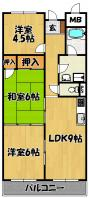 豊里ハイツ洋室(2・3号室)豊里3-7-22