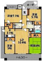 エスリード上新庄第2(301号室)4LDK