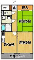 第2塩山マンション(1LDK)