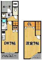 グレースDAIDO(406号室1DKメゾネット)