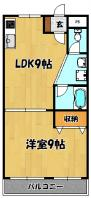 小松マンション205号(1L)