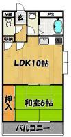 パークノヴァ壱番館(1号室)1LDK
