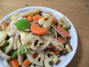 野菜のしょうが炒め