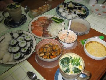 お寿司父夕飯