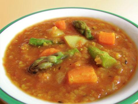 レンズ豆と野菜のカレー