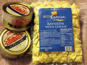 ラビオリとカニの缶詰