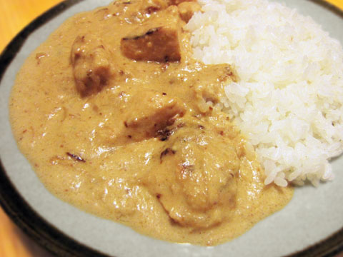鶏ムネ肉のホワイトカレー