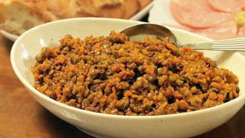 皮付きレンズ豆の煮込み_大皿