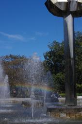 虹の出る噴水