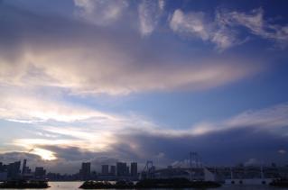 夕焼けに染まる空・・・天は味方した