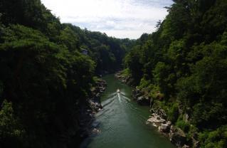 天竜川下りへ